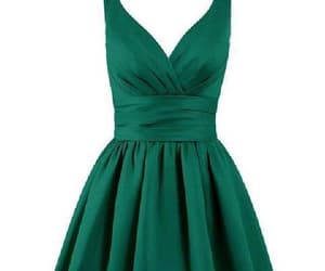 homecoming dress, v-neck prom dresses, and homecoming dress green image