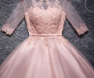 pink homecoming dress, a-line prom dress, and cheap prom dress image