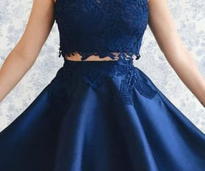 blue homecoming dress and homecoming dress lace image