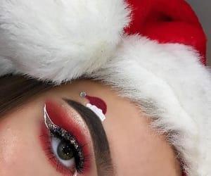 christmas, eye shadows, and make-up image