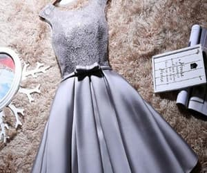 short homecoming dresses, a-line homecoming dresses, and grey homecoming dresses image