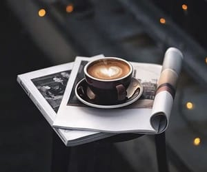 books, coffee aesthetic, and coffee image