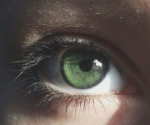 girl, green, and eye image