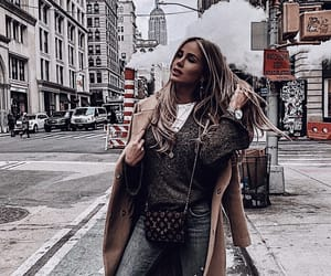 blonde, city, and coat image