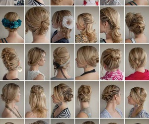 blonde, braids, and hairstyles image