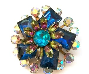 deep blue, etsy, and vintage pin image
