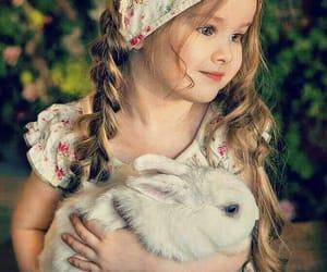 baby, conejo, and feliz image