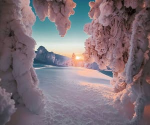 winter, snow, and finland image