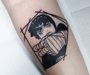 anime, rock lee, and tattoo image