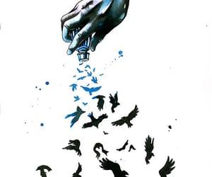 art, crow, and illustration image