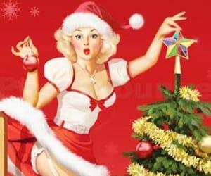 christmas, Pin Up, and retro image