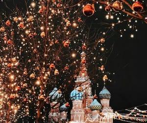 christmas tree, cities, and disneyland image
