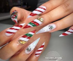 christmas, nails, and lollipop image