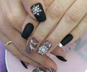 snowflake, winter, and nail art image