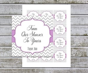 baby shower favors, instant download, and etsy image
