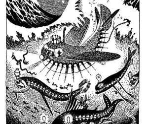 adventure, under the sea, and moomin image