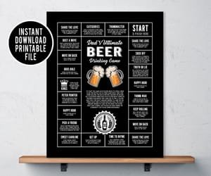 etsy, drinkinggame, and man cave decor image