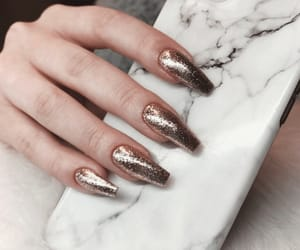 beauty, glitter nails, and phone cases image