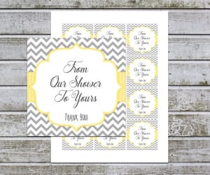 baby shower favors, instant download, and boy baby shower image