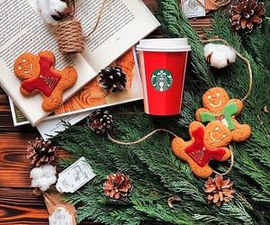books, christmas, and coffee image