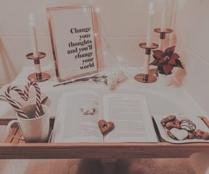 bath, christmas, and book image