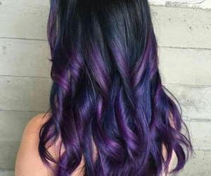 hair, purple, and haïr image