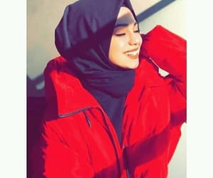 girls, hijab, and red image