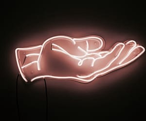 light, neon, and hand image
