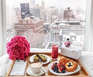 breakfast, city, and lifestyle image