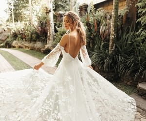 bohemian, bridal, and gown image