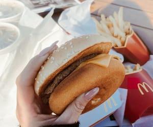 food, hamburger, and fries image