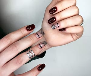 girl, manicure, and nail art image