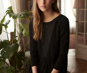 embroidery, romantic, and black lace blouse image