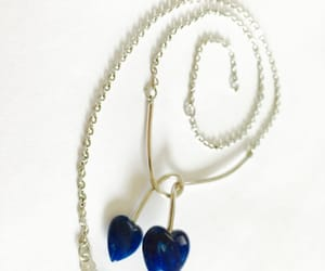 pendant, sarah cov, and duo heart necklace image