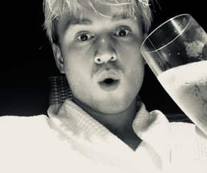 black and white, champagne, and tristan evans image