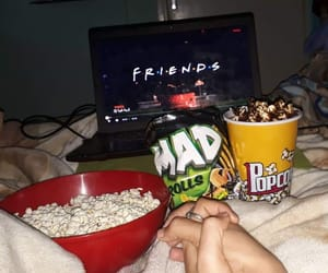 chill, couples, and popcorn image