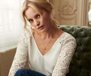 embroidery, romantic, and white lace blouse image