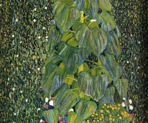 art, green, and Gustav Klimt image