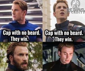 Avengers, beard, and captain america image