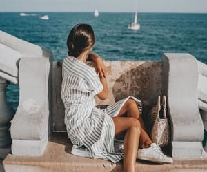 cool, dress, and ocean image
