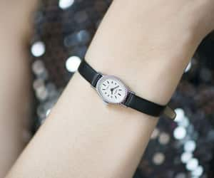 etsy, leather watch, and womens vintage watch image