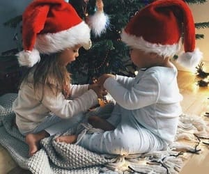 christmas, baby, and child image