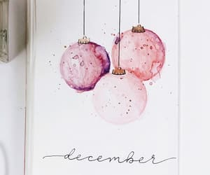 art, bullet journal, and december image