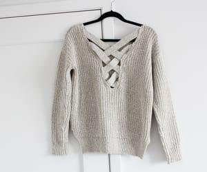 sweater, fashion, and grey image