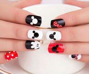 disney, mickey mouse, and nails image