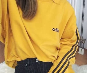 yellow, fashion, and adidas image
