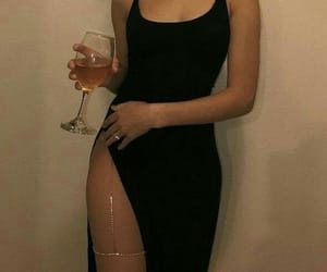 black, dress, and outfit image
