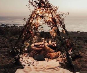 light, romantic, and beach image