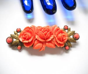 etsy, coral jewelry, and victorian revival image