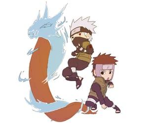 anime, chibi, and kakashi image